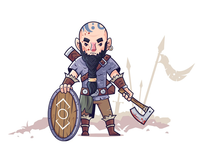 Old warrior after battle character illustration illustrator fighter fanart joe abercrombie joe abercrombie battlefield shield shielder axe viking creative warrior illustration flat art vector character design character