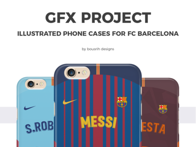 GFX Project - illustrated phone cases