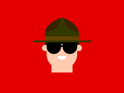 The Mountie - WWF 1990s character design flat design wrestler wrestling illustration characters 90s canada mountie wwe wwf