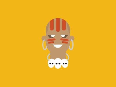 No.3 – Dhalsim product designer yellow vector cute street fighter dhalsim flat colour typography character design illustration retro