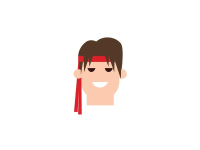 No.4 – Ryu product designer white vector cute retro character design typography ryu street fighter flat colour illustration