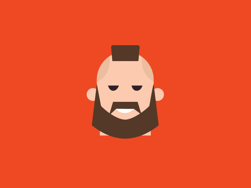 No.5 – Zangief product designer red vector cute retro typography zangief character design street fighter flat colour illustration
