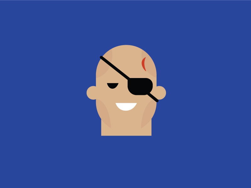 No.6 – Sagat illustration flat colour street fighter character design product designer typography retro cute vector blue sagat