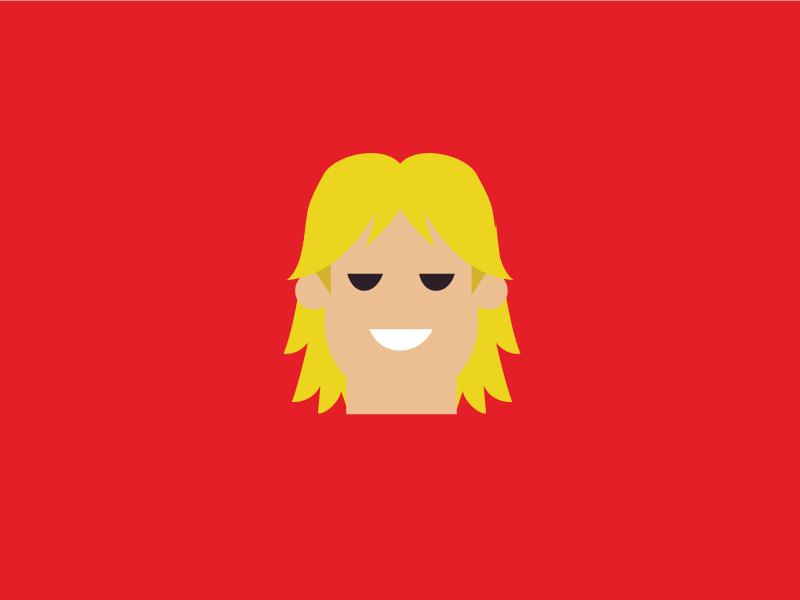 No.10 – Ken product designer ken red vector cute retro character design street fighter flat colour illustration
