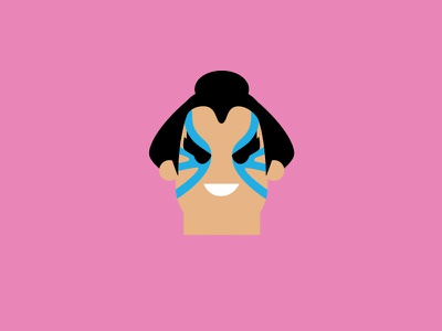 Ehonda – Player 2 pink vector cute retro product designer typography character design ehonda street fighter flat colour illustration