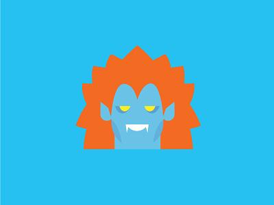Blanka – Player 2 blanka blue vector cute retro product designer typography character design street fighter flat colour illustration