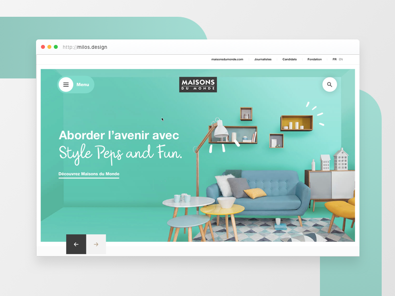 01 maison du monde by bonvallet romain dribbble for Maison du monde facebook