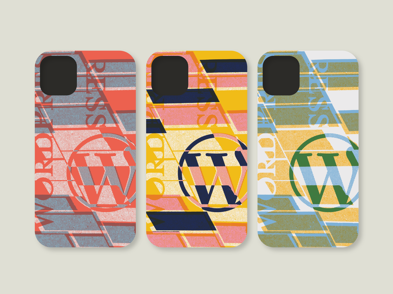 WordPress Phone Cases merch design collage phone case wordpress