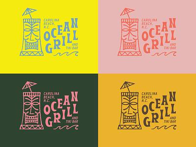Tiki Graphics line art hoodzpah illustration design graphics tiki bar tiki