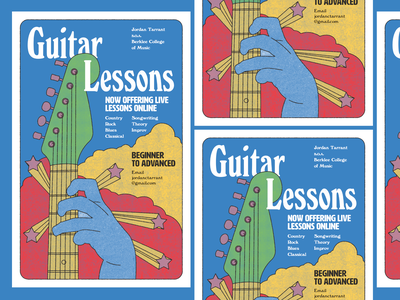 Lessons Poster illustration flyer graphic design typography gig poster music design richmond