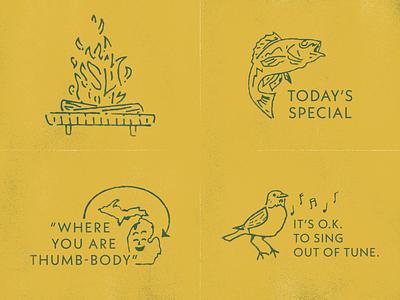 Restaurant Illustrations In Progress graphic design branding illustration restaurant michigan