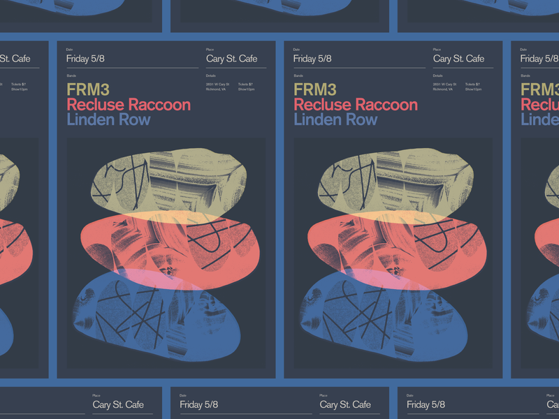 FRM3 Gig Poster rva flyer graphic design typography gig poster music richmond