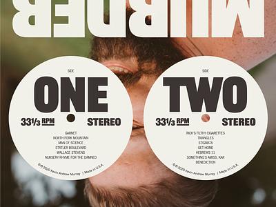 MURDER sneak peek music packaging vinyl album art typography music design richmond