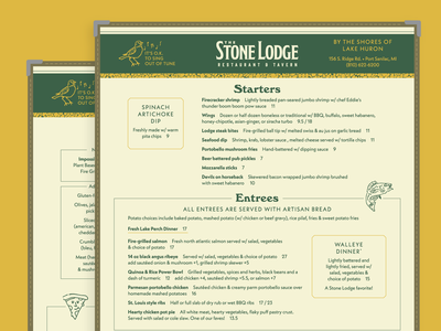 Stone Lodge Menu Design restaurant menu design design