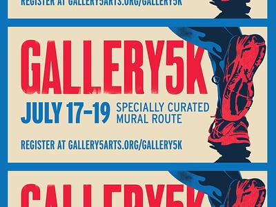 Gallery5K FB Event Graphic graphic design richmond design