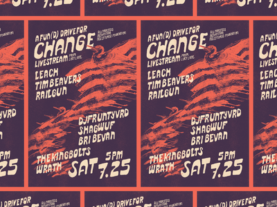 Fun(d) Drive Livestream Gig Poster graphic design rva flyer typography gig poster music design