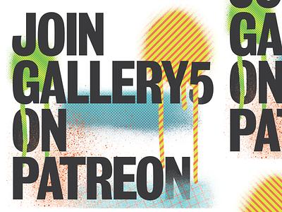 Gallery5 Patreon Banner spraypaint typography richmond design