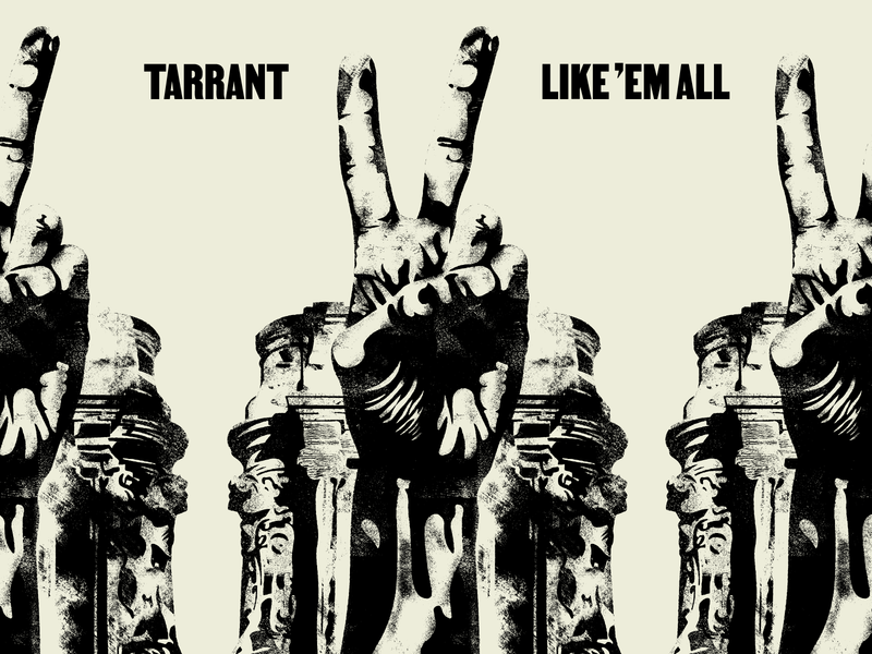 Tarrant Single Artwork Sneak stencil album art graphic design typography music richmond design