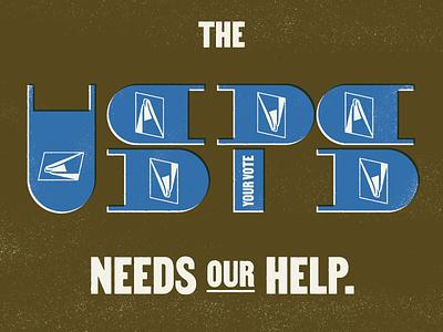 The USPS Needs Our Help illustration usps typography design