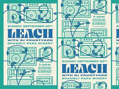 Leach Gig Poster leach vines amplifier rva flyer graphic design gig poster typography music richmond design