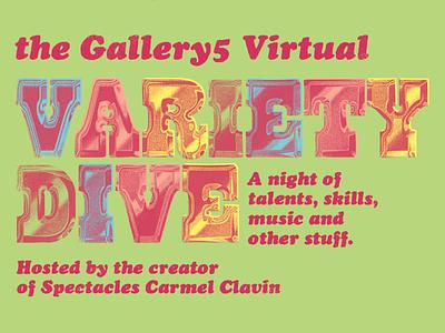 Work in Progress: Variety Dive chrometype flyer gig poster typography music richmond design