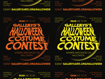 Halloween Costume Contest Graphics spooky costume halloween graphic design richmond design