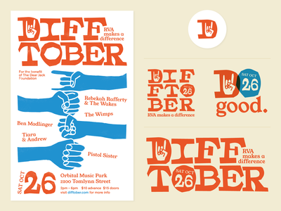 Difftober Branding logo design identity design branding cut paper october difftober rva flyer graphic design gig poster music richmond design