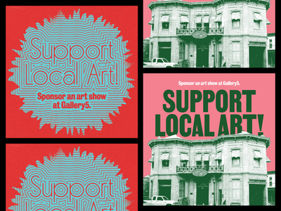 Support Local Art! graphics branding rva richmond design