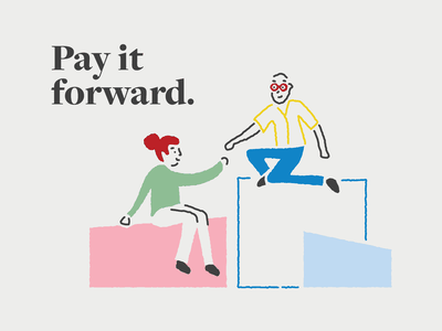 Pay it forward Illustration illustration design