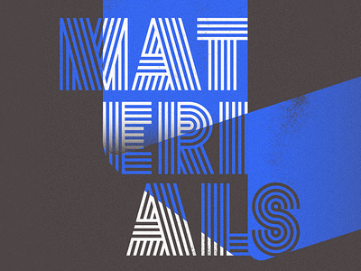 In progress: Materials Graphics graphic design typography richmond design