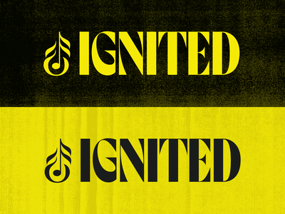 Ignited Logo identity logo branding typography music richmond design