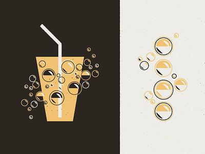 Bubbles & Treats Graphic seltzer graphic design illustration design