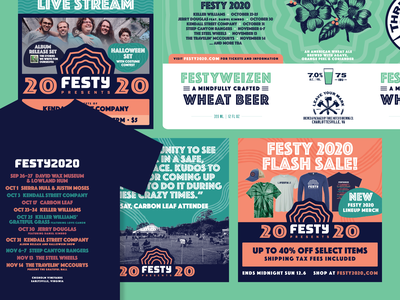 Festy Brand Applications festival poster festival typography music design