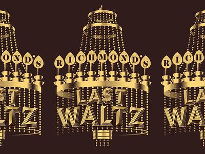 In Progress: Last Waltz Shirt band shirt merch last waltz the band rva graphic design typography music richmond design