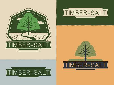 Timber+Salt Logo Family brand identity branding logo illustration graphic design typography richmond design