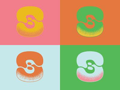 In Progress: Band Monogram stipple texture logo monogram psychedelic branding graphic design music design
