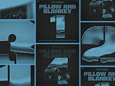 Pillow & Blankey Album Release Teaser Videos album art retro social media graphics chrome graphic design typography music richmond design