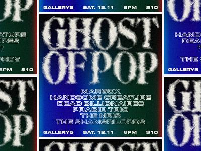 In progress—Ghost of Pop Graphic smoke ghost typography music richmond design