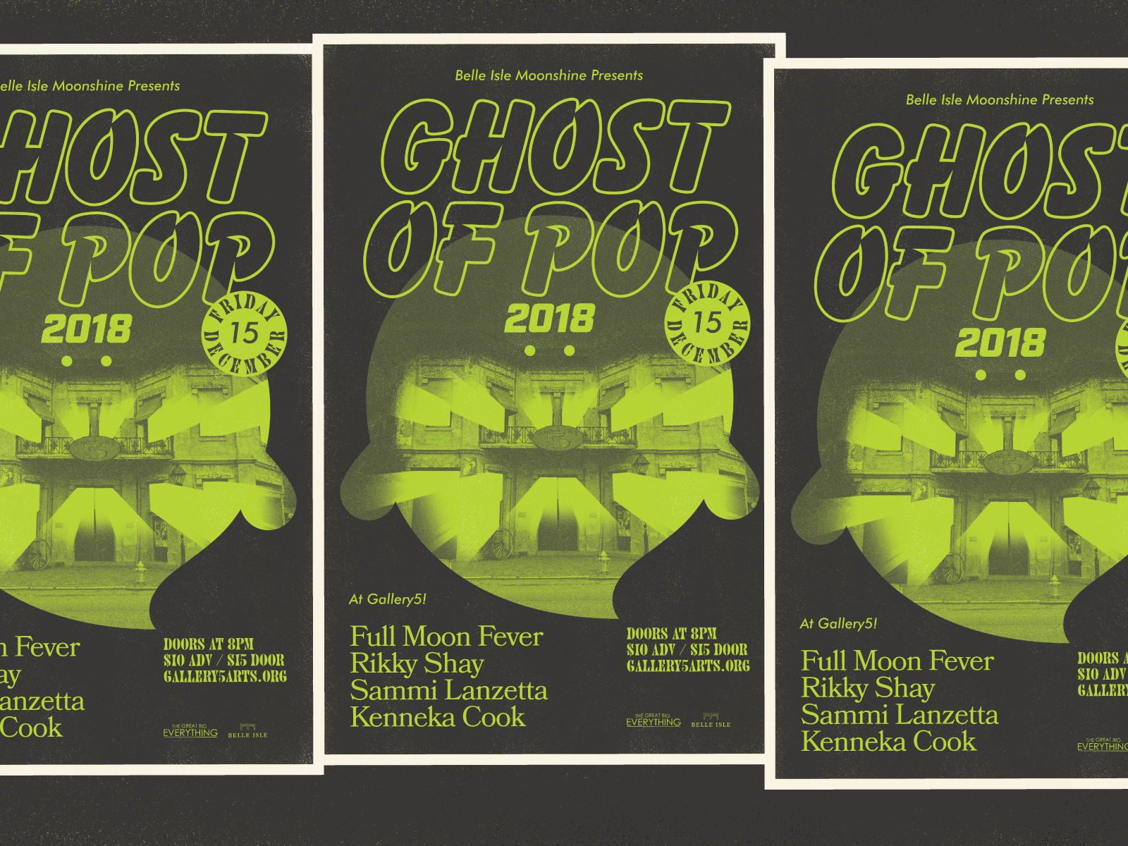Ghost of Pop Progress typography gig poster poster richmond music design