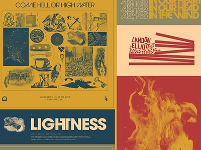 LE Work in Progress rva graphic design typography album art music richmond design