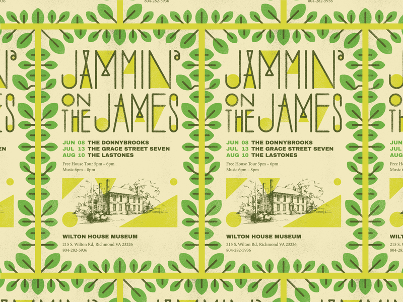 Jammin' on the James typography gig poster music design richmond