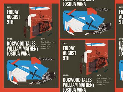 Dragon Gig Poster flyer charlottesville collage gig poster music design richmond