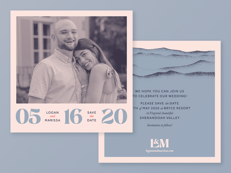 Logan and Marissa Save the Dates wedding wedding invitation design