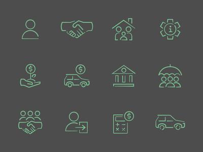 Bank Icon Set
