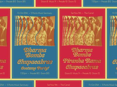 Dharma Bombs Gig Poster
