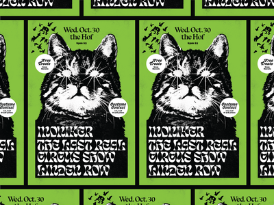 Demon Cat Poster halloween bats cat rva flyer graphic design typography gig poster music design richmond