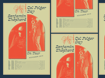 Benjamin Shepherd Tour Poster rva flyer tour gig poster music design richmond
