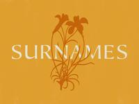 Surnames Logo: Unused Direction