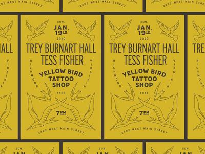 Yellow Bird Gig Poster