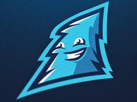 'blue tree' mascot logo